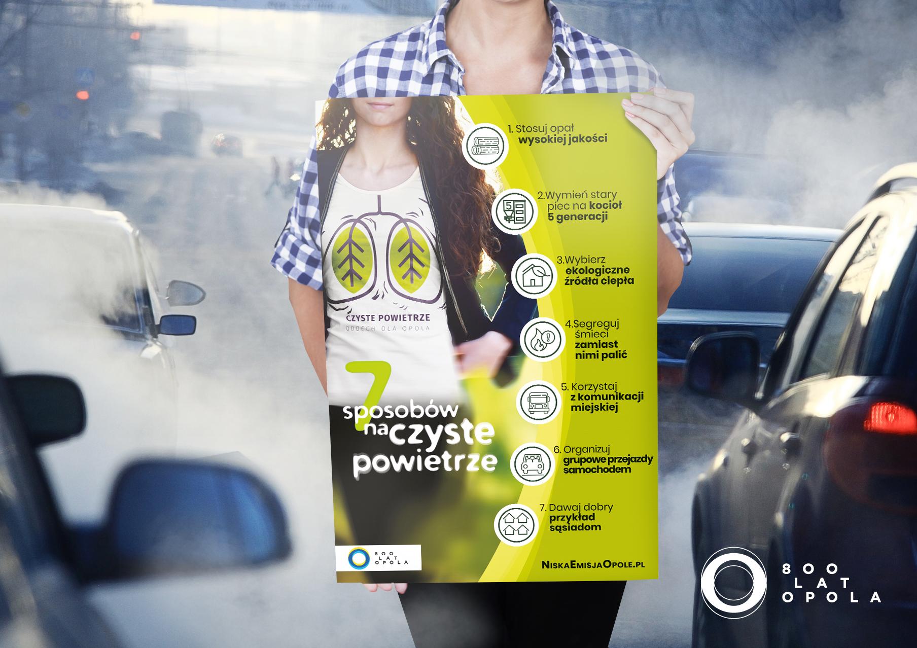 Grafika ze sposobami na czyste powietrze (portfolio MDI, kampania Oddech dla Opola).
