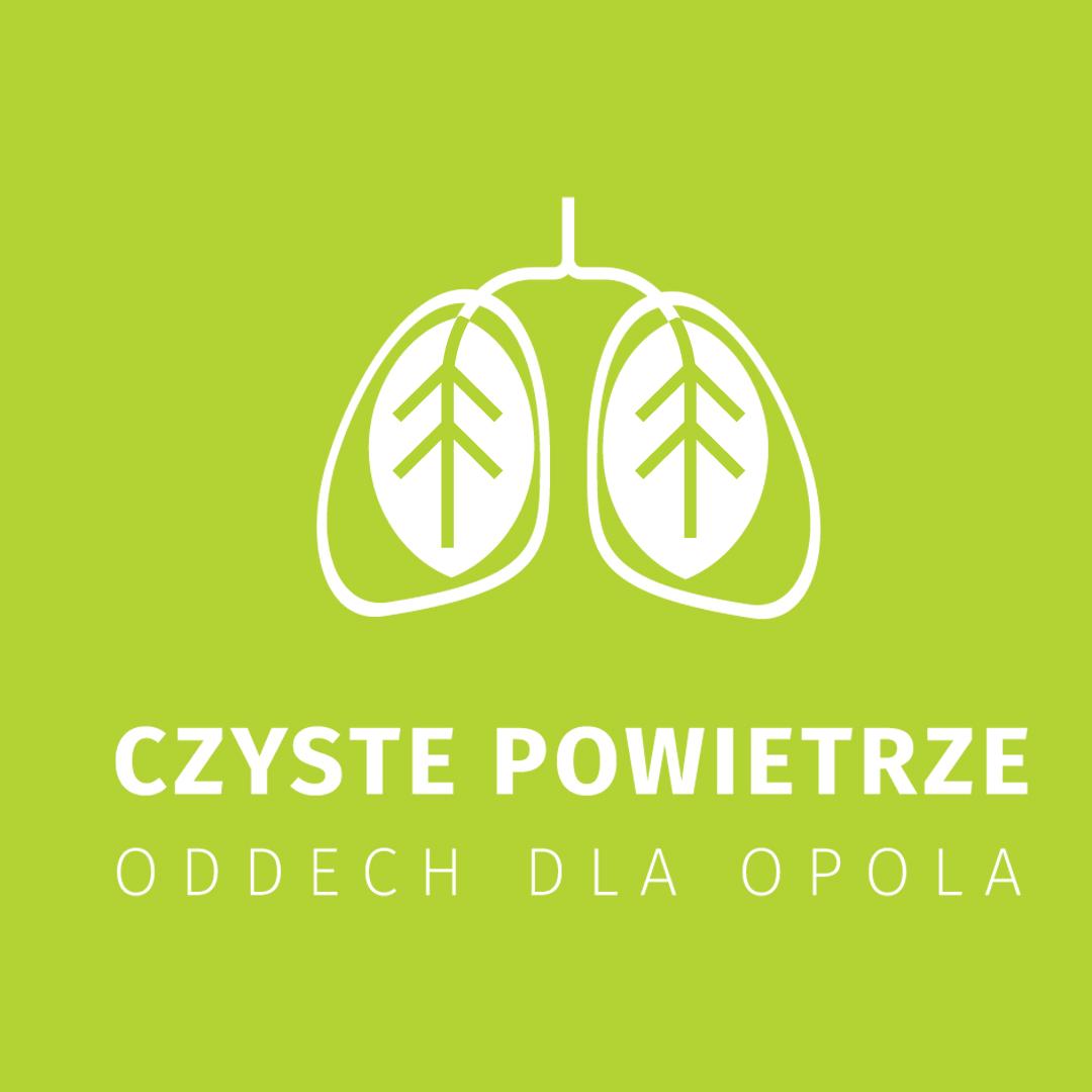 Grafika z logo akcji (Czyste powietrze - Oddech dla Opola).