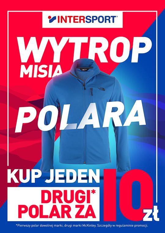 Plakat akcji Wytrop misia przygotowany przez agencję MDI dla Intersport.