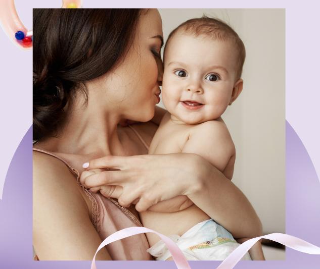 Grafika z matką i dzieckiem.