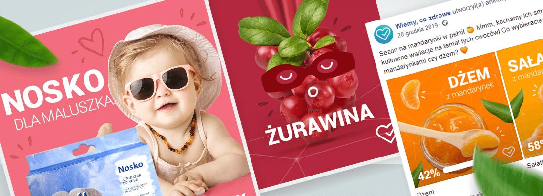 Przykłady postów w social mediach realizowanych przez MDI dla Salveo Poland.