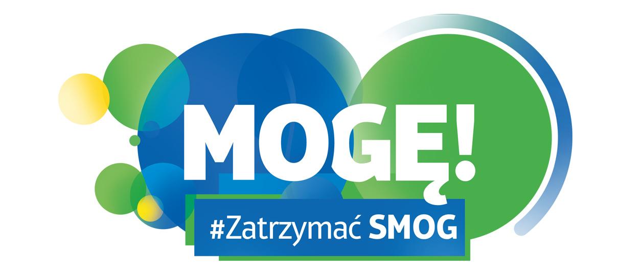 Logo kampanii Mogę zatrzymać smog! zrealizowanej przez agencję MDI